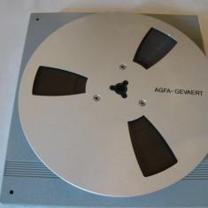 Banda magnetofon AGFA pe rola de aluminiu