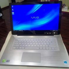 Sony Vaio Flip Intel i5-4200U-2.60Ghz, 8GB ram, SSD240GB-NVidia 2GB-touchscreen - Laptop Sony, Intel Core i5, Diagonala ecran: 15, Windows 10