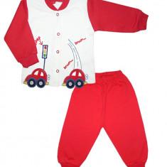 Costum pentru bebelusi cu model masinute HB335, Marime: 3-6 luni