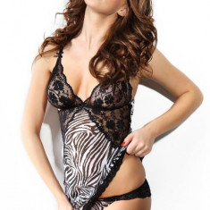 Set Sexy Monique Zebra - Set lenjerie sexy