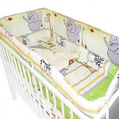 Lenjerie bebelusi Royal Bebe cu 5 piese Jungle Animals RB5