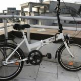 Bicicleta alba, frumoasa, pliabila, super pret - Bicicleta pliabila, 12 inch, 12.5 inch, Numar viteze: 1