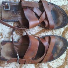 Sandale/papuc Kenzo, piele naturala. - Sandale barbati Kenzo, Marime: Alta, Culoare: Maro