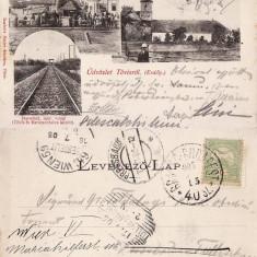 Teius  - Colaj, cale ferata, piata - clasica