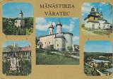Vedere color, 108 x 154 mm, circulata, colaj, Manastirea Varatec, Romania, Printata