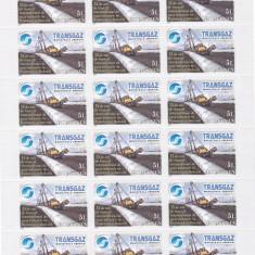TRANSGAZ, MINICOALA DE 24 TIMBRE - RAR!, 2009, MNH ROMANIA . - Timbre Romania, Istorie, Nestampilat