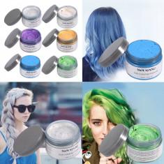 Ceara de par nuantatoare Styling: Gri-Rosu-Verde-Albastru-Mov Hair Wax  Rahel®