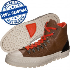 Pantofi sport Converse Chuck Taylor Street Hiker pentru barbati - originali, 40, 41, 42, 42.5, 43, Maro, Piele naturala