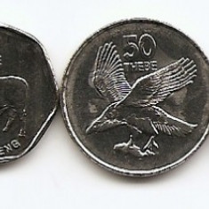 Botswana Set 6 - 5, 10, 25, 50 Thebe, 1, 5 Pula 1999/10 - UNC !!!, Africa