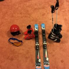 Skiuri, clapari, echipament ski copii 4-7ani - complet! - Set ski Wed'Ze