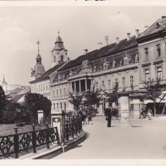 CLUJ-KOLOZSVAR, MATYAS KIRALY, MAGAZINE, ROMANIA. - Carte Postala Transilvania dupa 1918, Circulata, Fotografie, Cluj Napoca