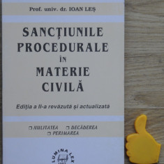 Sanctiunile procedurale in materie civila Ioan Les - Carte Drept procesual civil