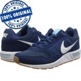 Pantofi sport Nike Nightgazer pentru barbati - adidasi originali, 40, Albastru, Piele intoarsa