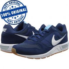 Pantofi sport Nike Nightgazer pentru barbati - adidasi originali - Adidasi barbati Nike, Marime: 40, Culoare: Albastru, Piele intoarsa