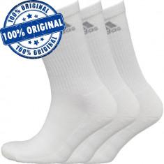 Set 3 perechi sosete Adidas 3S - sosete originale - Sosete barbati Adidas, Marime: 43-46, Culoare: Alb