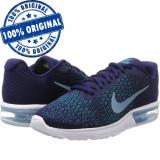 Pantofi sport Nike Air Max Sequent 2 pentru barbati - adidasi originali, 40.5, 43, Albastru, Textil