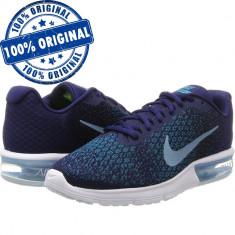 Pantofi sport Nike Air Max Sequent 2 pentru barbati - adidasi originali - Adidasi barbati Nike, Marime: 40.5, 43, Culoare: Albastru, Textil