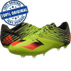 Pantofi sport Adidas Messi 15.2 pentru barbati - adidasi originali - fotbal - Ghete fotbal Adidas, Marime: 42, 42 2/3, 43 1/3, Culoare: Verde, Iarba: 1