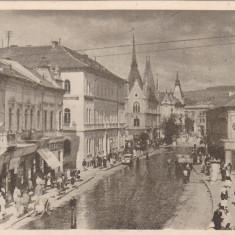 CLUJ-KOLOZSVAR, POSTA ROMANA, MAGAZINE, ROMANIA. - Carte Postala Transilvania dupa 1918, Circulata, Fotografie, Cluj Napoca