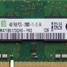 Ram laptop Samsung 4GB PC3-12800 DDR3 1600Mhz M471B5173QH0 PC3L Low 1.35V Sodimm - Memorie RAM laptop