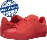 Pantofi sport Adidas Originals Superstar RT pentru barbati - adidasi originali, 43 1/3, Rosu, Piele intoarsa