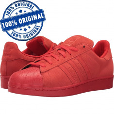 Pantofi sport Adidas Originals Superstar RT pentru barbati - adidasi originali - Adidasi barbati, Marime: 40 2/3, 42, 43 1/3, Culoare: Rosu, Piele intoarsa