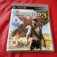Joc Uncharted 3 Drake's Deception, exclusiv PS3, alte sute de jocuri! - Jocuri PS3 Sony, Actiune, 16+, Single player