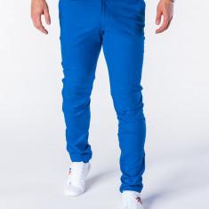 Pantaloni pentru barbati, albastru, casual, slim fit, elegant, bumbac - P631