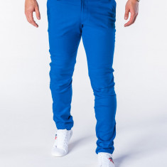 Pantaloni pentru barbati, albastru, casual, slim fit, elegant, bumbac - P631 - Pantaloni barbati, Marime: S, M, L, XL, XXL