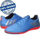 Pantofi sport Adidas Messi 16.3 pentru barbati - adidasi originali - fotbal - Ghete fotbal Adidas, Marime: 41 1/3, 42, 43 1/3, 44, Culoare: Albastru, Sala: 1
