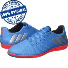 Pantofi sport Adidas Messi 16.3 pentru barbati - adidasi originali - fotbal, 42, 44, Albastru
