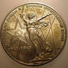 2.065 RUSIA URSS ANIVERSARE 30 ANI WWII 1 RUBLA 1975 XF, Europa, Cupru-Nichel
