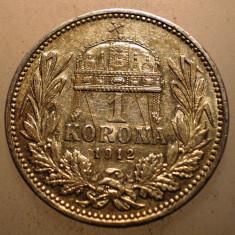 2.209 UNGARIA FERENCZ JOZSEF 1 KORONA 1912 ARGINT 5g, Europa