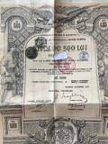 500 Lei Aur Titlu  de Stat  obligatiune cu dobanda si cupoane neincasate 1913