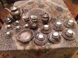 Set pentru ceai-cafea portelan argintat Dekor Bavaria Feinsilber