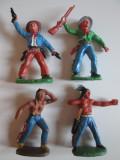 Lot 8 figurine cowboys si indieni Germania anii 70, peste 14 ani, Baiat
