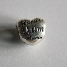 Talisman Pandora din argint -791112-mother's heart charm - Pandantiv argint