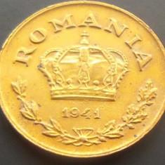 Moneda 1 LEU - ROMANIA, anul 1941 *cod 4177 --- A.UNC/UNC - PATINA EXCELENTA! - Moneda Romania, An: 1940