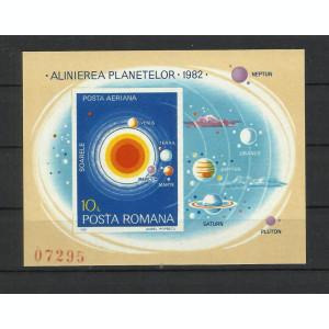 Romania MNH 1981 - colita nedantelata - Alinierea planetelor - LP 1035 - rar