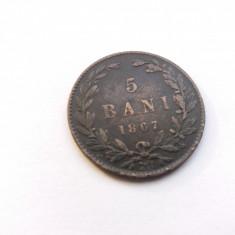 Romania 5 bani 1867-Waat - Moneda Romania