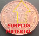 Moneda 1 LEU - ROMANIA, anul 1992  *cod 4225  ---  UNC CU EROARE BATERE!