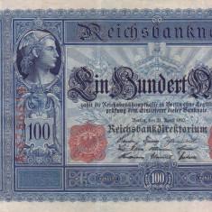 GERMANIA 100 marci 1910 VF+++!!! - bancnota europa