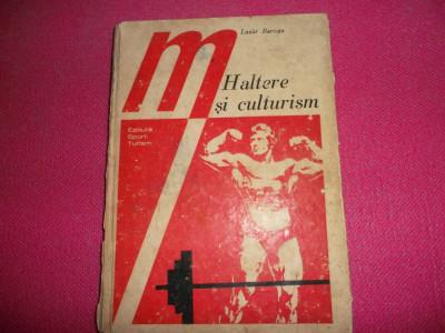 Haltere Si Culturism De Lazar Baroga, Editura Sport-turism, 1977 foto