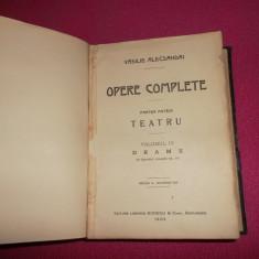 Vasile Alecsandri Vol VI, Teatru Drame +Vol III Comedii /1903