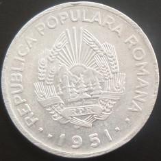 Moneda 20 LEI - ROMANIA, anul 1951 *cod 4883 --- ALUMINIU! - Moneda Romania