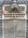 £100 Aur 1929 Obligatiune Romania la purtator