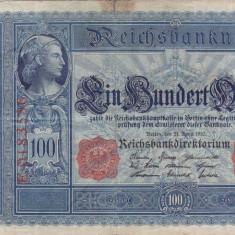 GERMANIA 100 marci 1910 VF!!! - bancnota europa