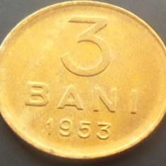 Moneda 3 Bani - ROMANIA, anul 1953 *cod 4458 UNC! - Moneda Romania
