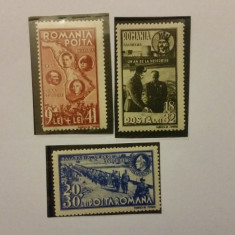 LOT COMPLET 3 TIMBRE - Regele Mihai I si Adolf HITLER (2) - Timbre Romania, Stampilat