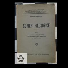 Dr I Niemirower Scrieri filosofice vol I Ed Lojei IOB Br Noua Fraternitate - Carti Iudaism